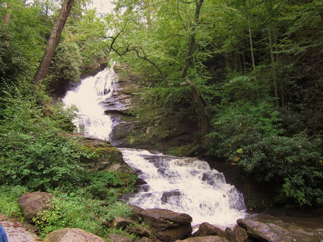 Nearby falls at Sky Valley